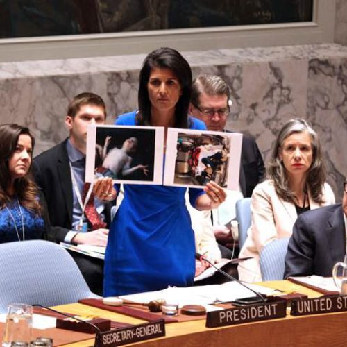 Nikki Haley blasts Syria's friends in scathing announcement